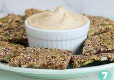 Chia quinoa crackers