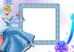 Beautiful Transparent Child Frame with Cinderella Happy Birthday Frame, Happy Birthday Photos, Birthday Frames, Cinderella Pictures, Disney Princess Pictures, Cinderella Party Decorations, Image Princesse Disney, Arabesque, Disney Frames