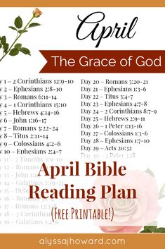 How do you define the grace of God? Is it His mercy? His blessing or favor in your life? His gift of salvation? As Christians, we hear about God's grace on a regular basis. But do we fully understand its meaning and purpose? Here are 10 Bible verses that define the grace of God. And be sure to check out this month's free Bible reading plan focusing on His grace. #FreePrintable #BibleReadingPlan #April #BibleStudy