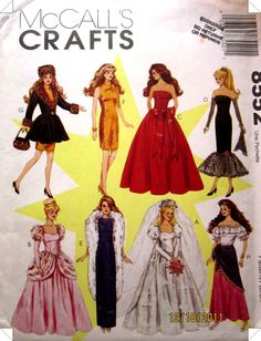 McCalls 8552 Barbie Sewing Pattern UNCUT by Denisecraft on Etsy, $8.99