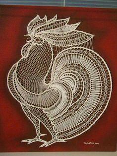 How beautiful micro macrame i think Crochet Applique Patterns Free, Bobbin Lace Patterns, Crochet Flower Patterns, Crochet Motif, Crochet Designs, Crochet Lace, Crochet Parrot, Romanian Lace, Bobbin Lacemaking