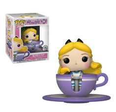 New Alice at the Mad Tea Party Funko Pop! now available online The new Alice at the Mad Tea Party Funko Pop! features your favorite curious Fantasyland gal spinning in her own purple teacup. Mad Tea Parties, Tea Party, Pop Figures Disney, Pop Vinyl Figures, Pop Disney, Disney Parks, Disney Ideas, Walt Disney, Funko Pop Dolls