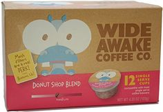 Wide Awake Coffee Donut Shop Blend Single Serve Cup, 12 Count *** Continue to the product at the image link. (This is an affiliate link and I receive a commission for the sales) Amazon Website, Pour Over Coffee, Wide Awake, Donut Shop, Coffee Pods, Gourmet Recipes, Counting, Donuts, Packing