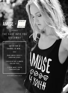 Enter the Fade into you Giveaway for your chance to win a $500 Amuse Society shopping spree and more!