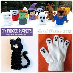 Halloween Poems For Kids, Scary Halloween Crafts, Halloween Activities, Halloween Themes, Haloween Craft, Diy Halloween Garland, Diy Halloween Decorations, Puppets For Kids, Finger Puppets
