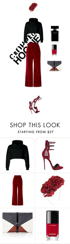 """""""CROPPED!"""" by maria-laura-correa-da-silva ❤ liked on Polyvore featuring Giuseppe Zanotti, Rodarte, Rock 'N Rose, Little Liffner, Chanel and Narciso Rodriguez"""