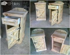 Pallet Bedside Tables