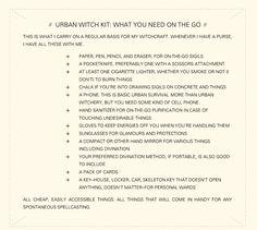 Urban witch stuff