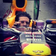 Mark Webber finishing 2nd in his last F1 Grand Prix! Taking his helmet off in his run off lap.. Legendary! #F1 #Formula1 #Interlagos #MarkWebber