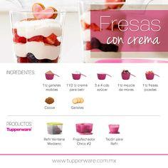 Fresas con crema #Tupperware