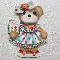 ELITE4U-Laura-CUTE-BOUTIQUE-GIRL-Tear-BEAR-Premade-Scrapbook-3paperwishes
