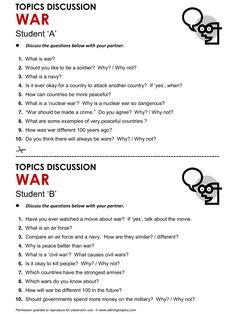 War, English, Learning English, Vocabulary, ESL, English Phrases, http://www.allthingstopics.com/war.html
