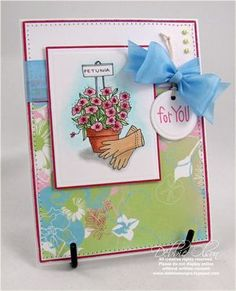 Spring Fling Sketch Challenge - Lockhart Great Hobbies, Ink Stamps, Summer Flowers, Birthday Greetings, Handmade Cards, Stamping, Card Ideas, Card Making, Challenges