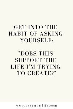 Does this support the life I'm trying to create? #lovethis #motivation #positivity #positivevibes