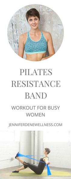 Today's Pilates resistance band workout will  strengthen your muscles, improve your posture, and increase your flexibility. All you need is a resistance band (a.k.a exercise band or Theraband) and your workout mat.  Pilates emphasizes core strength, postural alignment, mobility and breath, making it a really important component of your overall workout routine.