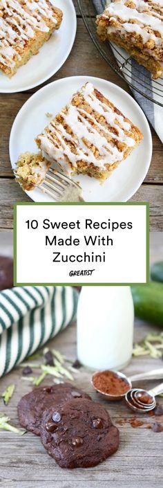 """Eat your veggies"" has never been easier. #greatist https://greatist.com/eat/healthy-sweets-baked-with-zucchini"