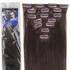 20''7pcs Fashional Clips in Remy Human Hair Extensions 24 Colors for Women Beauty Hot Sale (#02-dark brown) by lilu, http://www.amazon.com/dp/B008HODSNW/ref=cm_sw_r_pi_dp_Ej0prb0PGFC5D