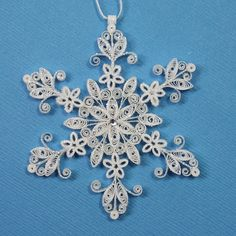 quilling snowflakes | SNOWFLAKE ~ Quilled
