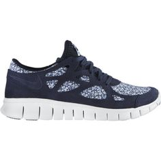 Nike Free Run+ 2 Liberty Women's Running Shoes - Dark Obsidian, 7.5 ($115) ❤ liked on Polyvore