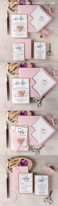 We Do Rustic Boho Wedding Invitations  ||  @4lovepolkadots