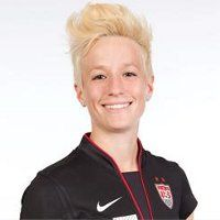 "Meet Megan Rapinoe, the left wing for the US women's soccer team. She's stupid talented, and to ""top it off,"" her hair is AMAZING."