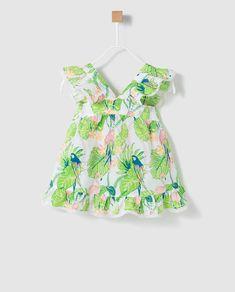Blusa de niña Bass 10 estampada con volantes Rompers, Summer Dresses, Floral, Bb, Fashion, Block Prints, Women's, Log Projects, Kids Pants