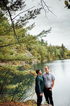 Intimate, September Engagement Photos at Pink Lake, QC (Sept. by the talented Saidia Photography (Clayton, ON). Engagement Session, Engagement Photos, Pink Lake, Turquoise Water, Amazing Adventures, Vancouver Island, Bouldering, September, Park