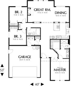 House Plan 2559 00061   Traditional Plan: 1,463 Square Feet, 3 Bedrooms, 2  Bathrooms