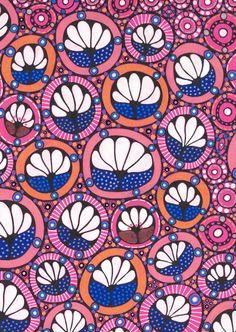 Ornamental flowers pattern original art drawing art by KariatideLV, $60.00