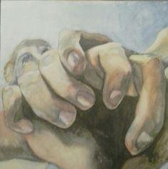 Jaime Cowdry. Watercolour on canvas board. 40cmx40cm