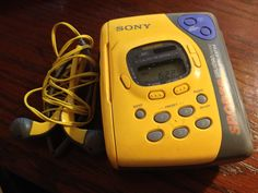 """I still have my yellow Sony Walkman Sport with a digital tuner and """"Mega Bass."""" I loved it back in high school and surprisingly it still works. Sony made them indestructible back then. This thing is 25 years old! Lol!"""