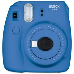 Fujifilm Instax 9 Mini Instant Camera (£50) ❤ liked on Polyvore featuring camera, fillers, blue, electronics, photography and cobalt blue