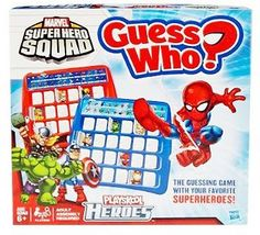 GUESS WHO Marvel Spiderman X-Men, Wolverine, Hulk,Super Heroes Mystery Board Game