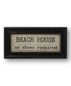'No Shoes Required' Burlap Wall Sign | something special every day