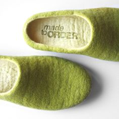 Vanilla Pear / Felted slippers are MADE TO ORDER by Onstail