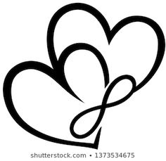 Love Symbol Tattoos, Bff Tattoos, Infinity Tattoos, Infinity Symbol, Mini Tattoos, Body Art Tattoos, Small Tattoos, Tribal Heart Tattoos, Infinite Love Tattoo