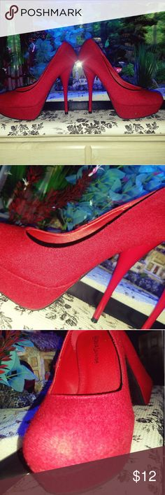 Sexy red high heels Sexy red high heels they go great with just about anything diva lounge Shoes Heels