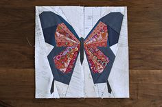 I've got a butterfly quilt in the works. I thought I'd need to make a few more blocks, but my bee mates have been so generous that I may not add much to what they've already sent. These butterflies...
