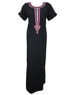 Boho Muumuu Caftan Designer Black Long Kaftan Embroidered Dress Medium Mogul Interior http://www.amazon.com/dp/B00OLGBB3E/ref=cm_sw_r_pi_dp_Ndqqub07X368H