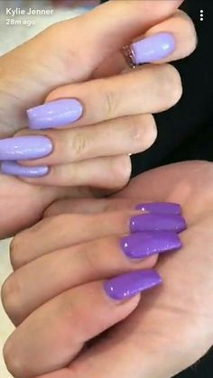 49 ideas nails kylie jenner glam for 2019 Garra, Purple Nails, Matte Nails, Matte Makeup, Green Nails, Hair And Nails, My Nails, Kylie Jenner Nails, Best Acrylic Nails