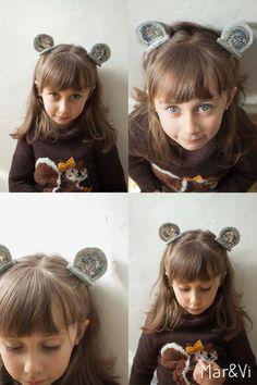 Mollette per capelli con orecchie in feltro