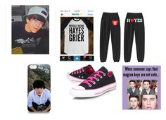 """""""Hayes Grier"""" by kylee-bannister ❤ liked on Polyvore featuring Converse"""