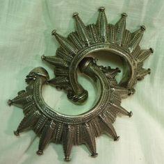 Spiked Silver Gokhru Cuff, Pakistan