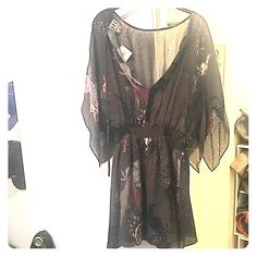 Haute Hippie Birds of Paradise Dress Never worn, brand new , dark army green, haute hippie dress Haute Hippie Dresses