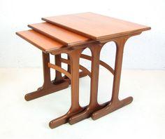 [vintage G-Plan nest of tables, seen on eBay]