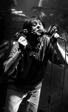 Shaun Ryder, The Happy Mondays, live UK 1989 - Peter J Walsh