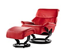 Dream Sessel mit Hocker in Chilli Red