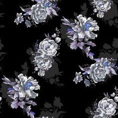 Black and Purple Watercolour Floral by hunt+gather studio Seamless Repeat Exclusive Pattern Floral Watercolor, Watercolour, I Saw The Light, Love Wallpaper, Repeating Patterns, Print Patterns, Blade, Roses, Wallpapers