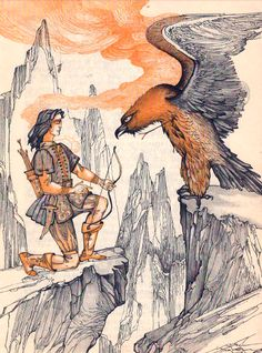 Elena Boariu  - Basmele Apelor Fantasy, Moose Art, Painting, Fairytale Illustration, Illustration Art, Art