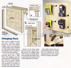Cordless Tool Charging Station Plans - Workshop Solutions
